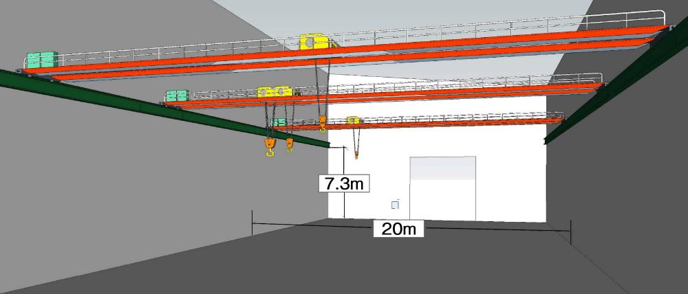 Crane Three-Dimensional Figure